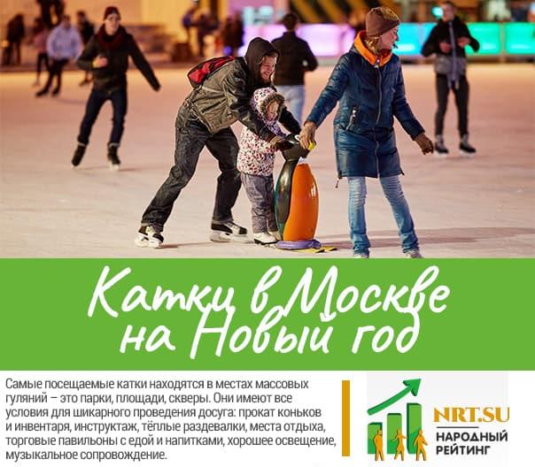 Катки в Москве на Новый год 2021-2022